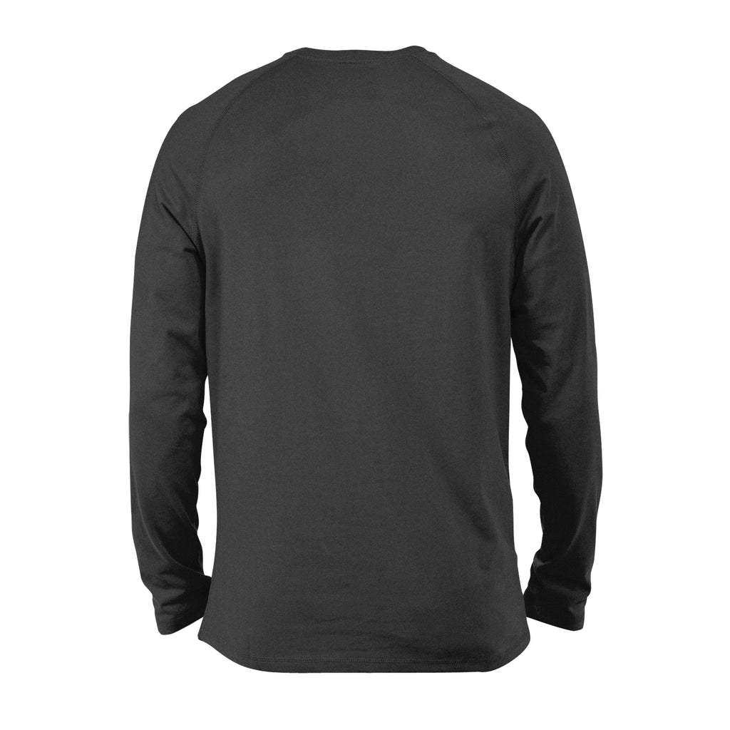 Premium Long Sleeve - Curved Logo (White)