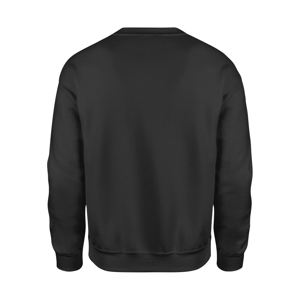 Premium Fleece Sweatshirt - Curved Logo (White)