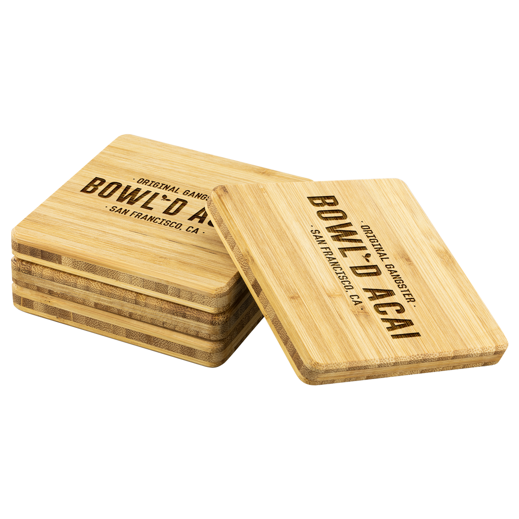Bamboo Coaster - Wordmark