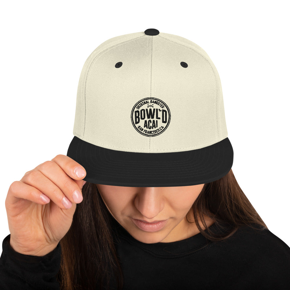 Snapback Hat - Circle Logo (Black)