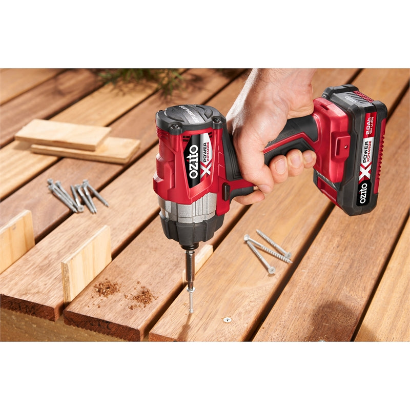 **HIRE SHOP ** Ozito PXC 18V Brushless Impact Driver - Skin Only ເຄື່ອງໃສ່ນອດກຽວ
