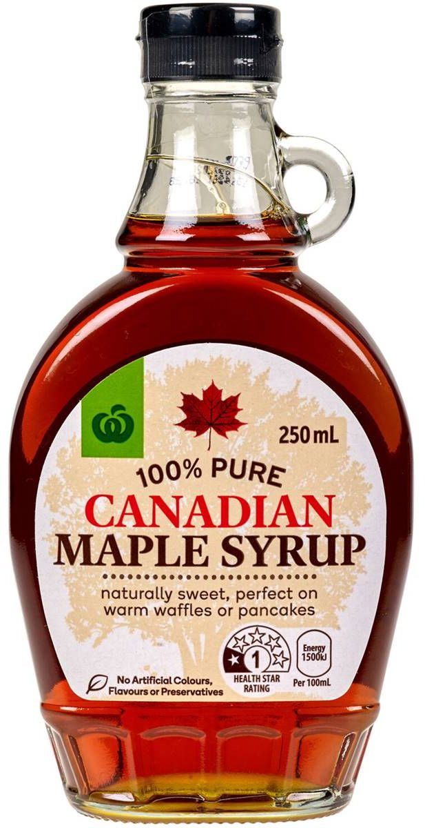 Woolworths 100% Canadian Maple Syrup 250ml