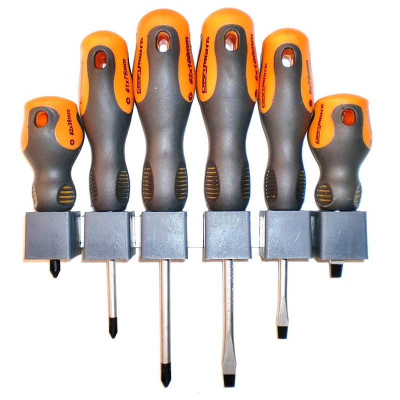 Craftright 6 Piece Soft Grip Screwdriver Set ຊຸດໄຂພວງ