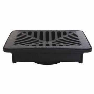 Everhard EasyDRAIN Shallow Flo-Way Pit With Black Polymer Grate  ປ່ອງລະບາຍນ້ຳໃສ່ຫ້ອງນ້ຳ