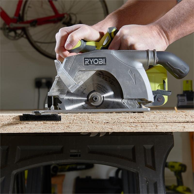 **HIRE SHOP ** Ryobi One+ 18V 165mm Circular Saw - Skin Only  ເຄື່ອງຈັກຕັດໄມ້
