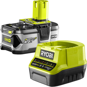 Ryobi 18V ONE+ 4.0Ah Battery And Fast Charger Pack  (B2)
