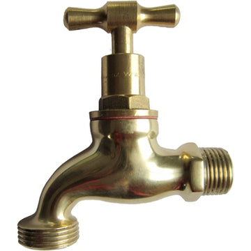 Kinetic 15mm Polished Brass Garden Tap