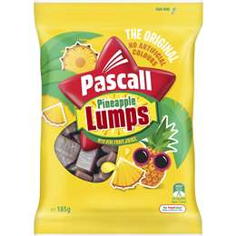 Pascall Pineapple Lumps Lollies 185g
