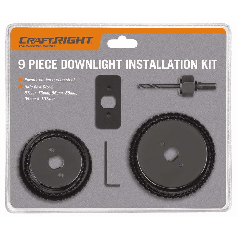 Craftright 9 Piece Downlight Installation Kit