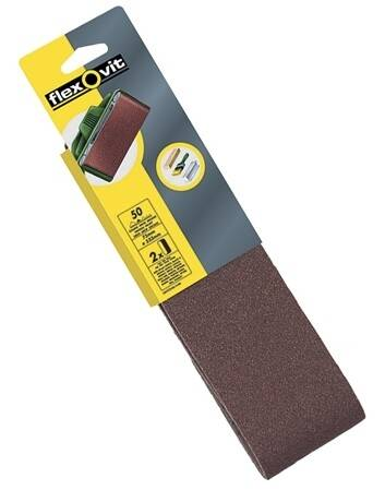 Flexovit FLV26469 Cloth Sanding Belt 75 x 533mm 80 Grit Medium (Pack of 2)