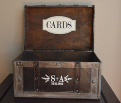 Custom Rustic Style Wedding Card Holder Trunk - An Artsy Affair