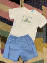 Load image into Gallery viewer, Easter Smocked Light Blue Boy Outfit