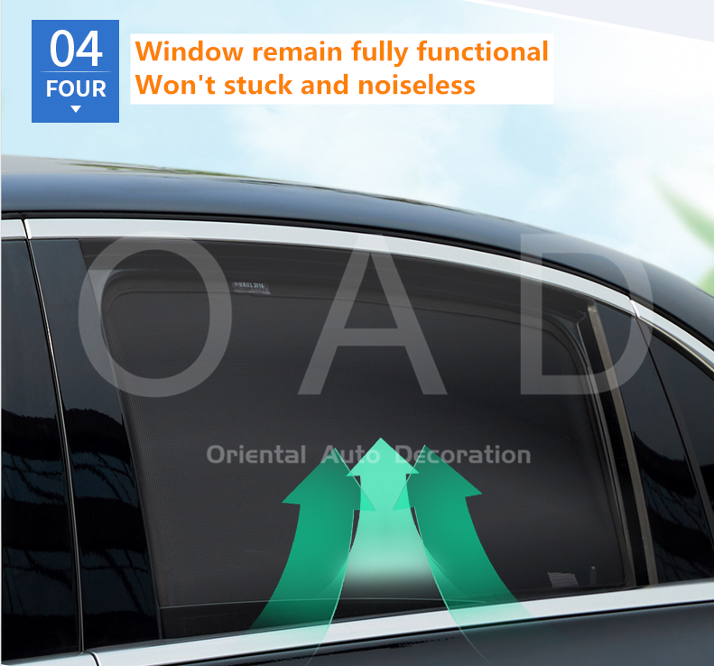 4 pcs Foldable Magnetic window Screen Sun Shade for NX Series 15+ #X
