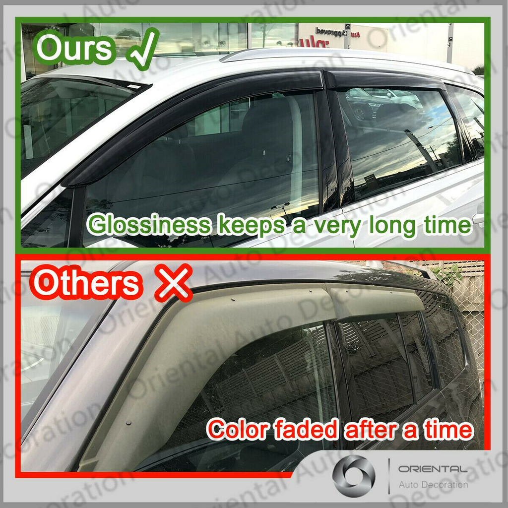 Luxury weathershields weather shields window visor For Holden Colorado dual cab 08-12 model