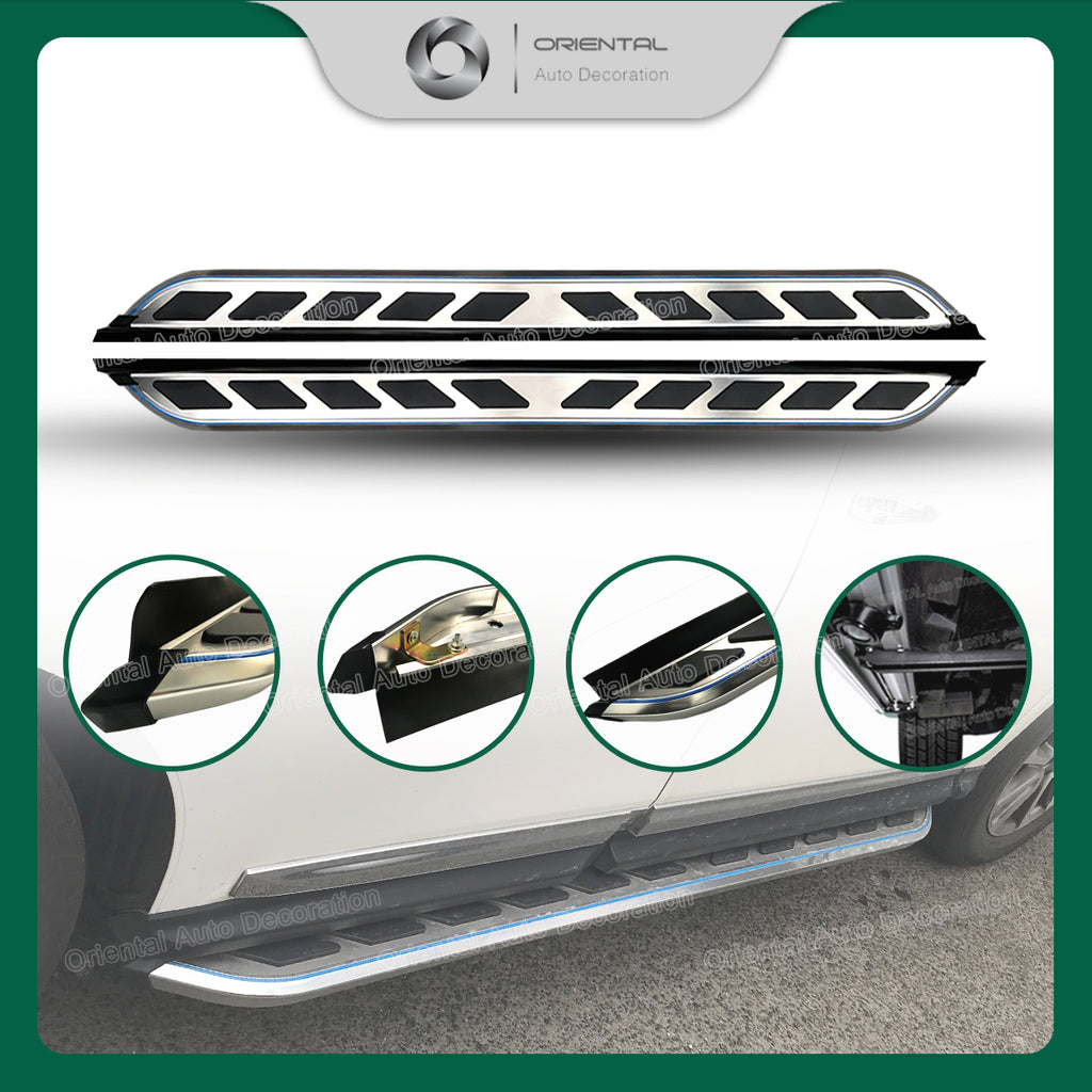 Aluminum Side Steps Running Board For Toyota Hilux Dual Cab 05-14 model #66