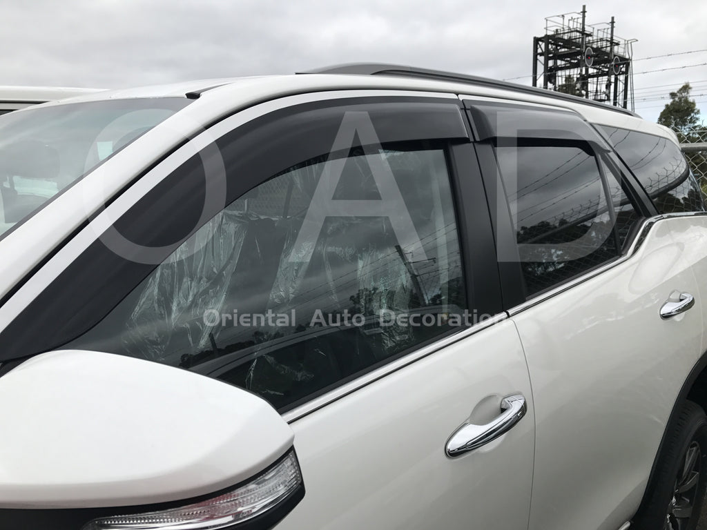 Injection weathershields weather shields window visor For Toyota Fortuner 2015+ model S