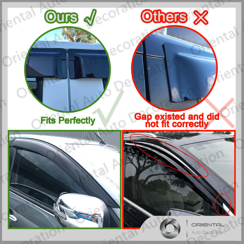Premium weathershields weather shields window visor For Toyota LandCruiser Prado 120 03-09 model T
