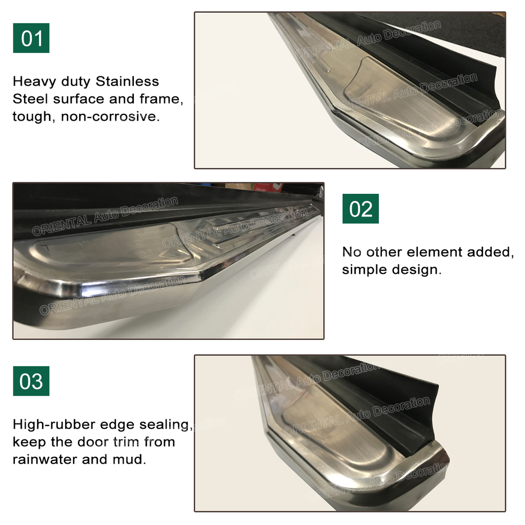 Stainless Steel Side Steps/Running Board For Hyundai Santa Fe 2019- model #LT