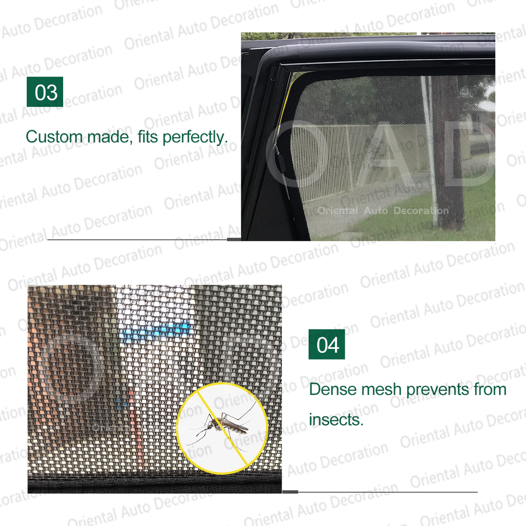 4 pcs set Foldable Magnetic window Screen Mesh Sun Shade Sun Shades for Nissan Patrol Y62 13-20 #SY