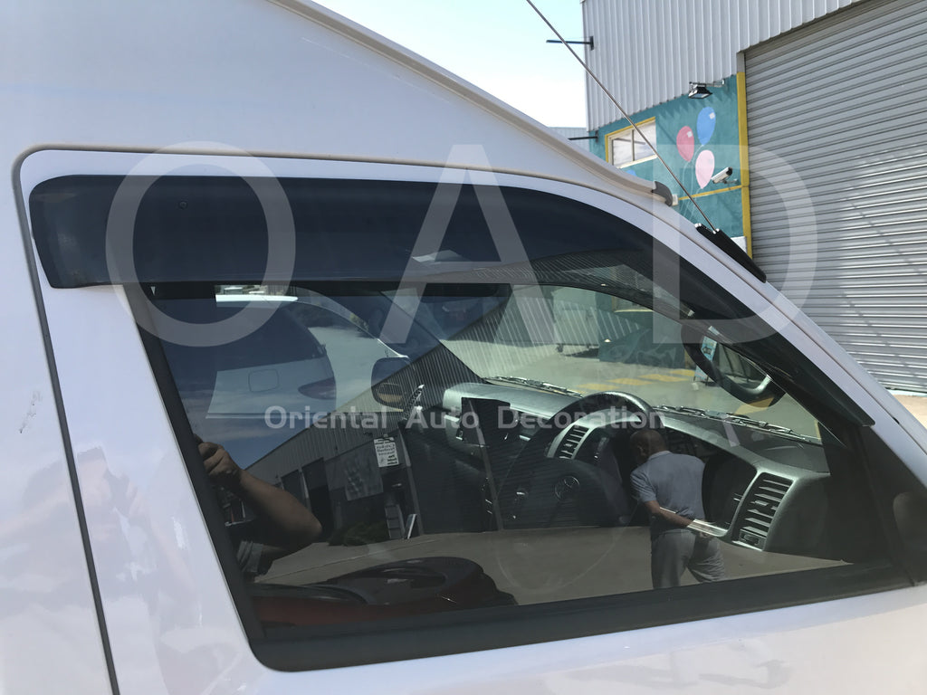 Injection weathershields weather shields window visor For Toyota Hiace 05-19 model K
