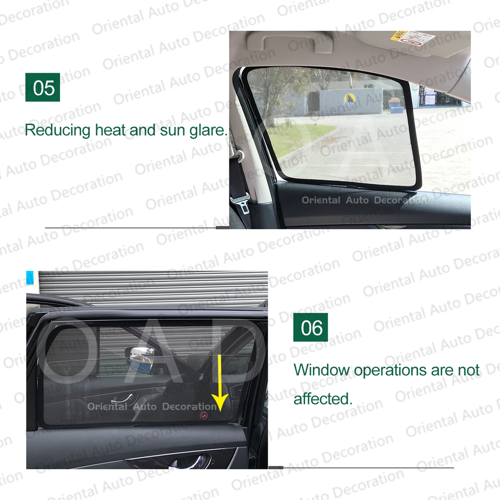 4 pcs set Foldable Magnetic Car Screen Mesh Sun Shade Sun Shades fit Subaru Forester S4 13-18 #SY
