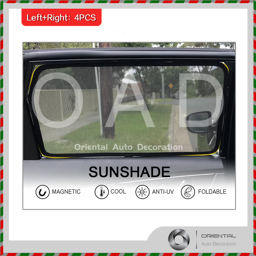 4 pcs set Foldable Magnetic Car window Screen Mesh Sun Shade Sun Shades for Toyota RAV4 13-19 #SY