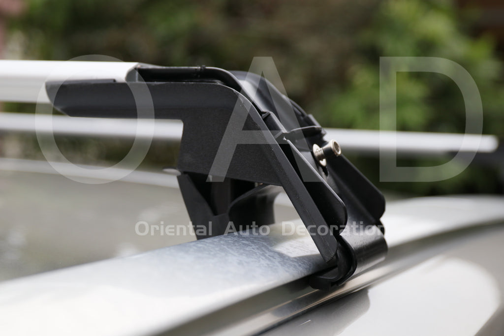 1 Pair Aluminum Silver Cross Bar Roof Racks Baggage Holder for BMW X3 17+ Clamp in Flush Rail