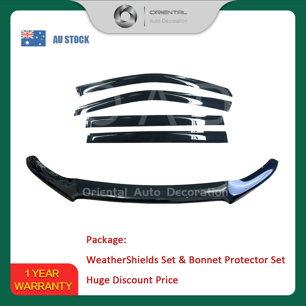 Bonnet Protector & Weathershields Weather shields window visor for Toyota Kluger 2014+ #BC