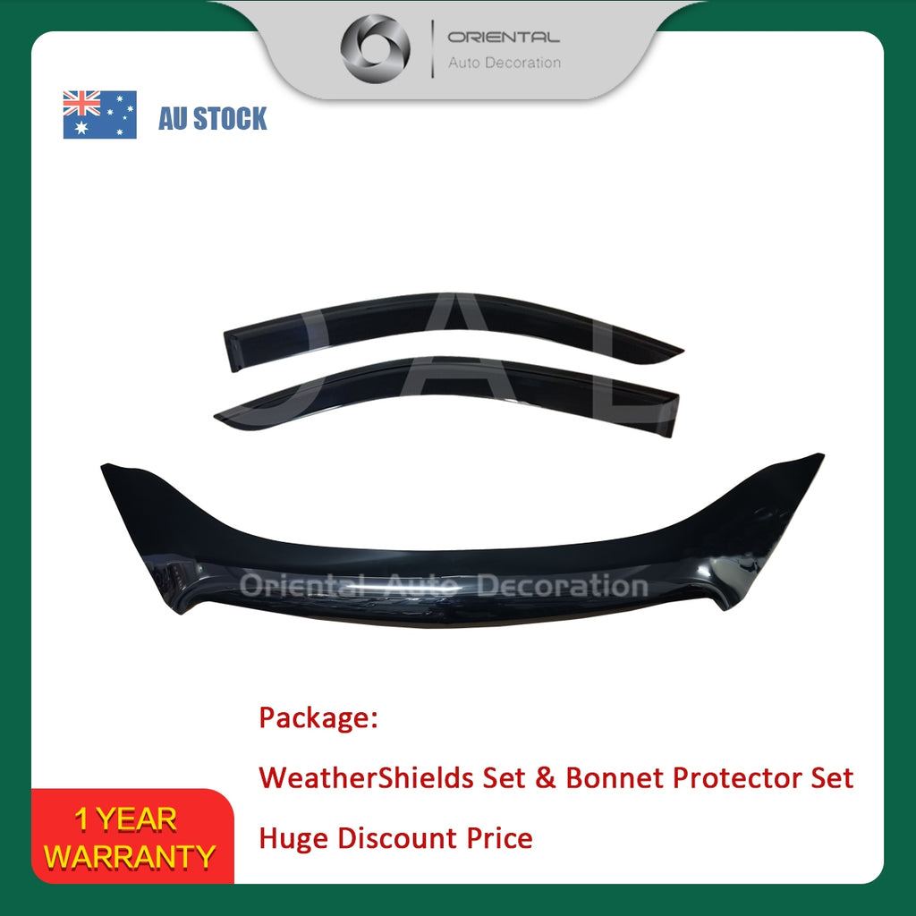 Bonnet Protector & Weathershields Weather shields window visor for Holden Colorado Single / Extra cab 12-16 2P #BC #S