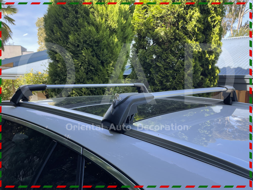 1 Pair Aluminum Silver Cross Bar Roof Racks Baggage Holder for Mitsubishi Pajero Sport 15-21 Clamp in Flush Rail