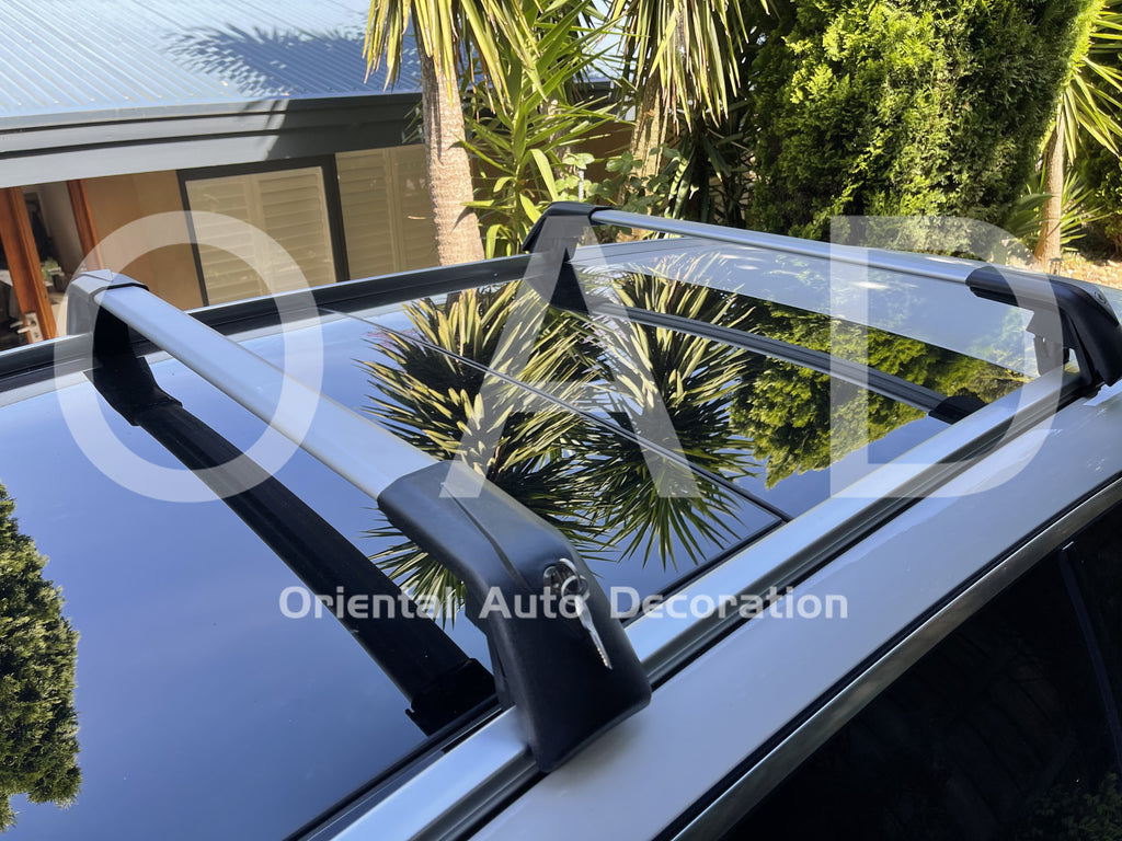 1 Pair Aluminum Silver Cross Bar Roof Racks Baggage Holder for BMW X5 14+ Clamp in Flush Rail
