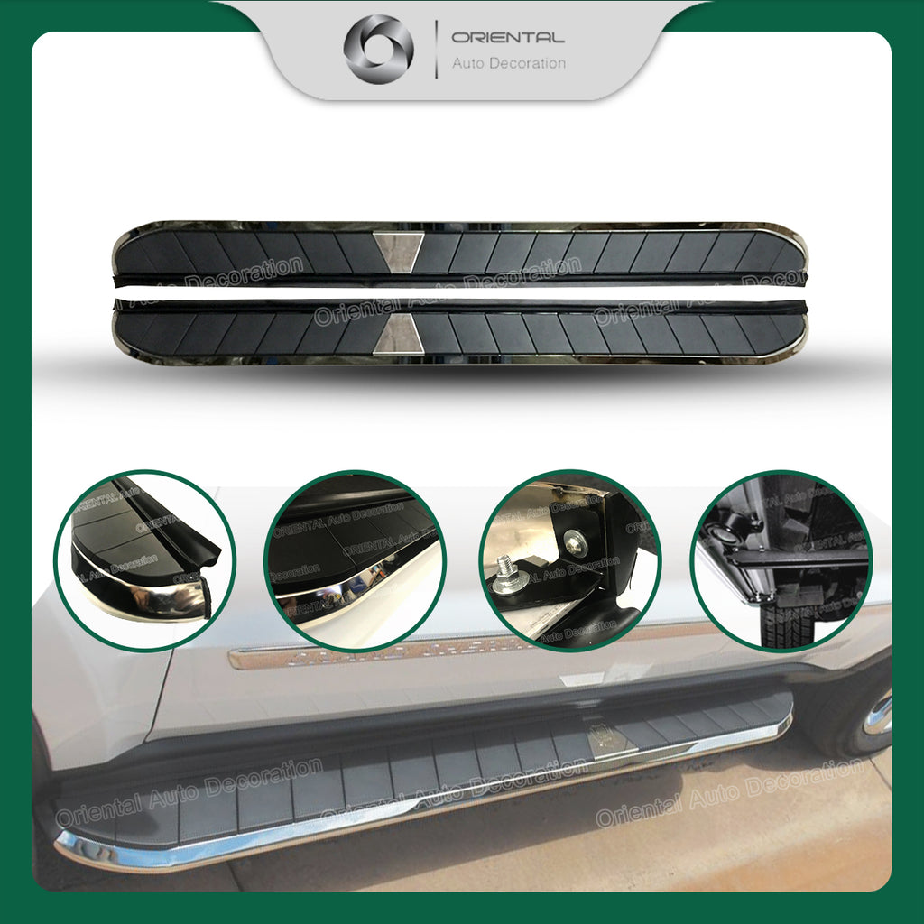 Black Aluminum Side Steps/Running Board For Toyota Hilux 05-14 model (#CYZ)
