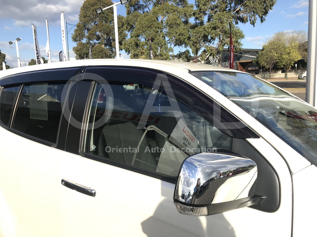 Bonnet Protector & Weathershields Weather shields window visor for Holden Colorado 7 seats 12-16 #BC