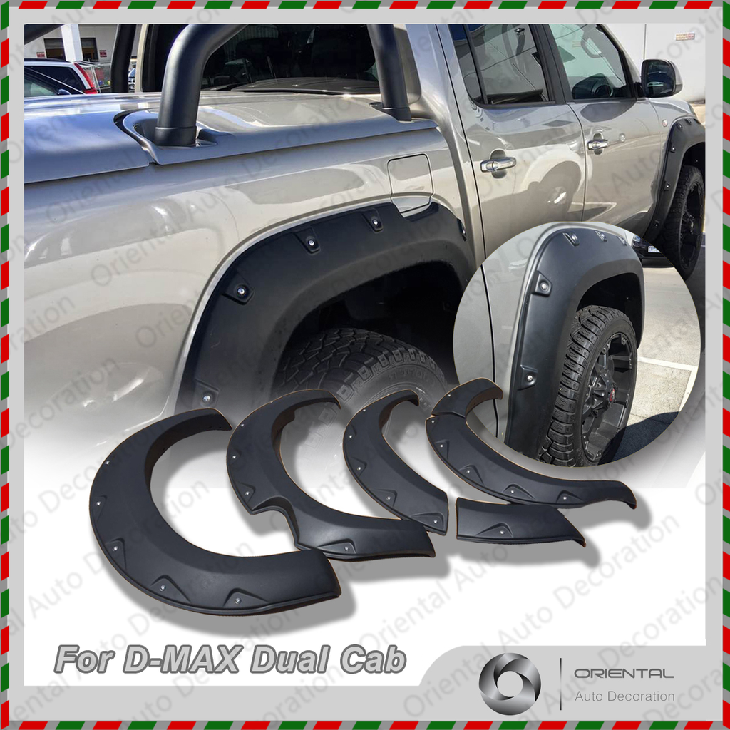 NEW Fender Flares Wheel Guard / Arch Flares for ISUZU D-MAX DMAX Dual Cab 12-15 Pick up only