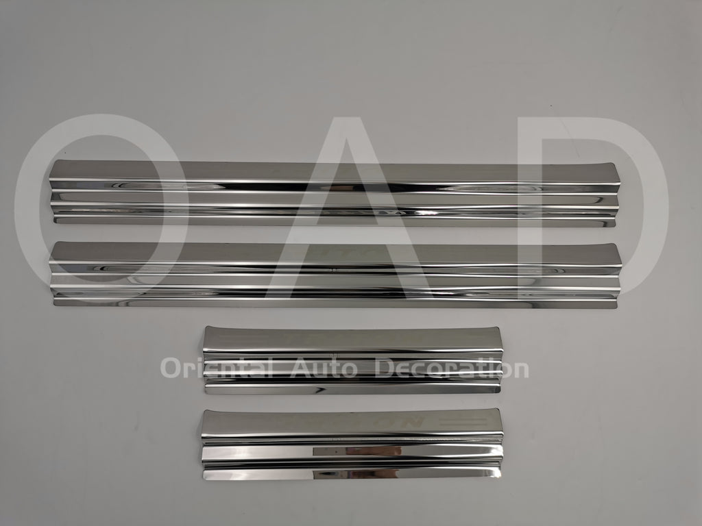 For Mitsubishi Triton Dual Cab 15+ Stainless Steel Scuff Plates Door Sills Protector #L NOT BLACK