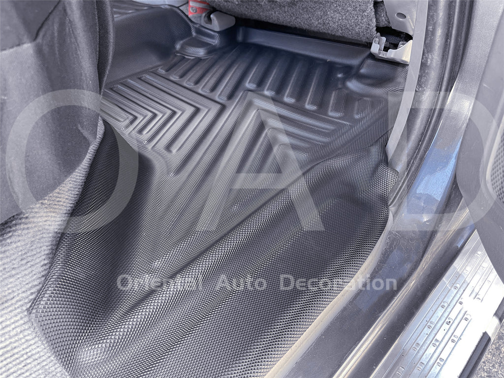 Tailored 5D TPE Door Sill Covered Floor Mat Mats Liner fit Toyota Hilux Dual Cab 05-15 #T