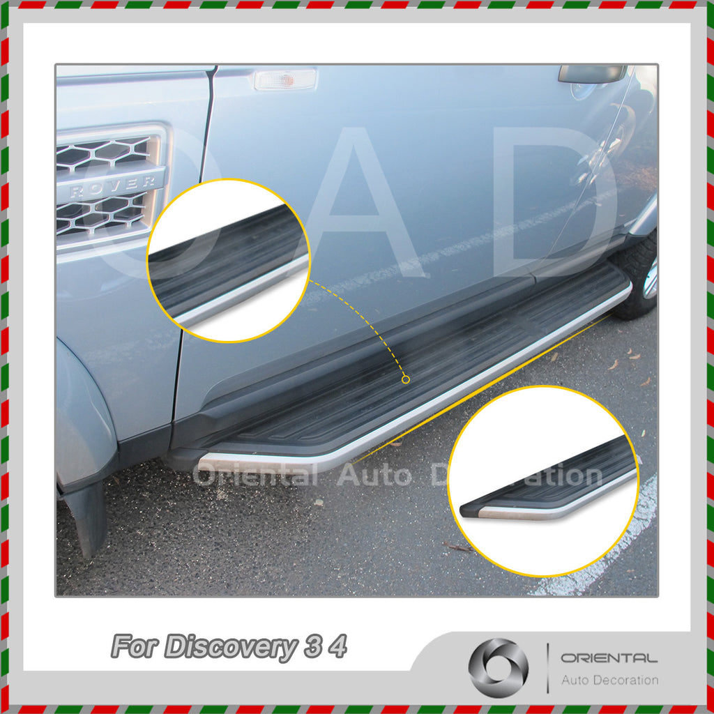 Genuine Style Black Aluminum Side Steps/Running Board For Land Rover Discovery 3 4 05-13