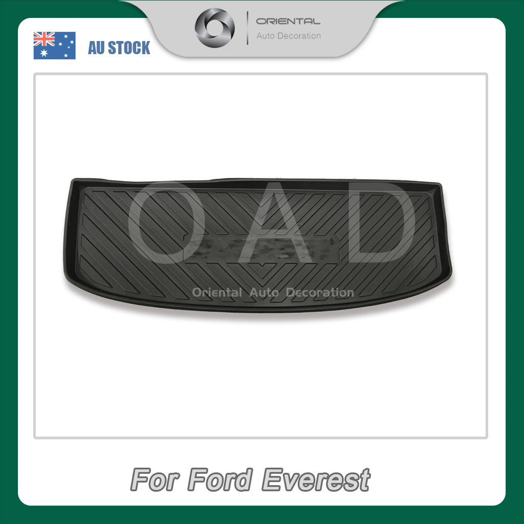 Injection Weather shields Weathershields window visor & 3D TPO cargo mat for Ford Everest 15- 7 seats