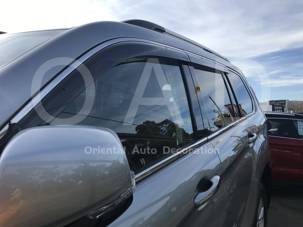 Injection Stainless weathershields weather shields window visor For HAVAL H9 2015- model T