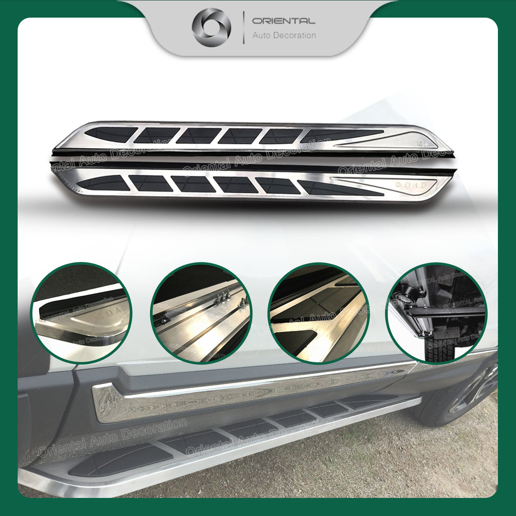 Stainless Steel Side Steps Running Board For Jeep Compass 17- #HT