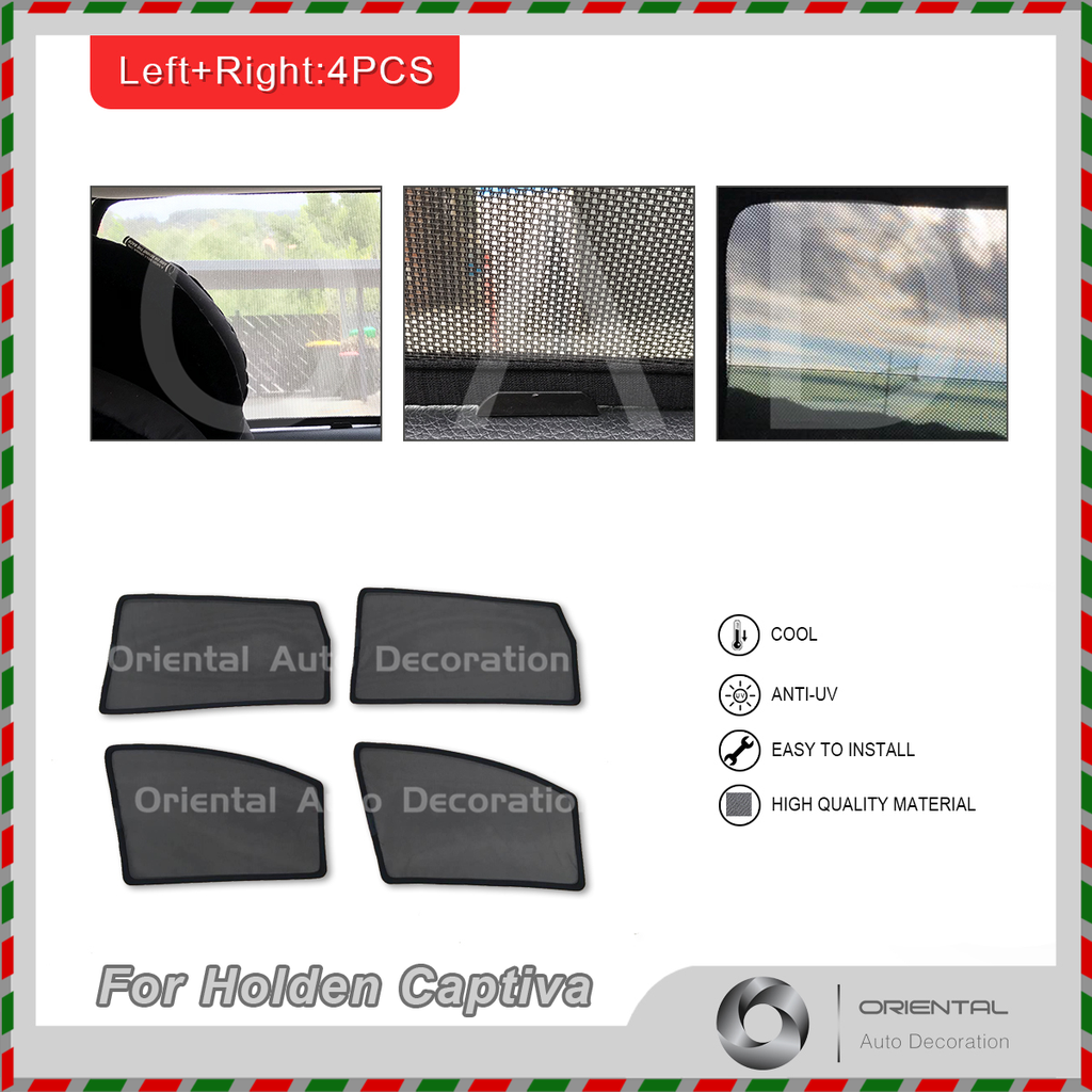 4 pcs set Foldable Magnetic Car window Screen Mesh Sun Shade Sun Shades for Holden Captiva 06-18 #SY
