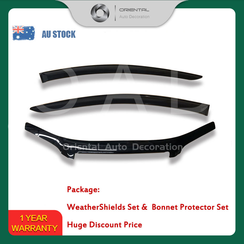 Bonnet Protector & Luxury Weathershields Weather shields window visor for Holden Commodore VE ute 06-13 #BC 2P