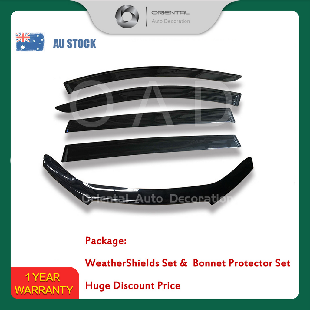 Bonnet Protector & Weathershields weather shields window visor for Holden Commodore VF Wagon 13-16 #BC