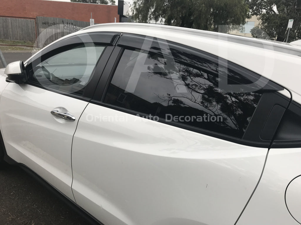 Luxury Weather shields Weathershields window visor & 3D TPO cargo mat for Honda HRV HR-V 14+