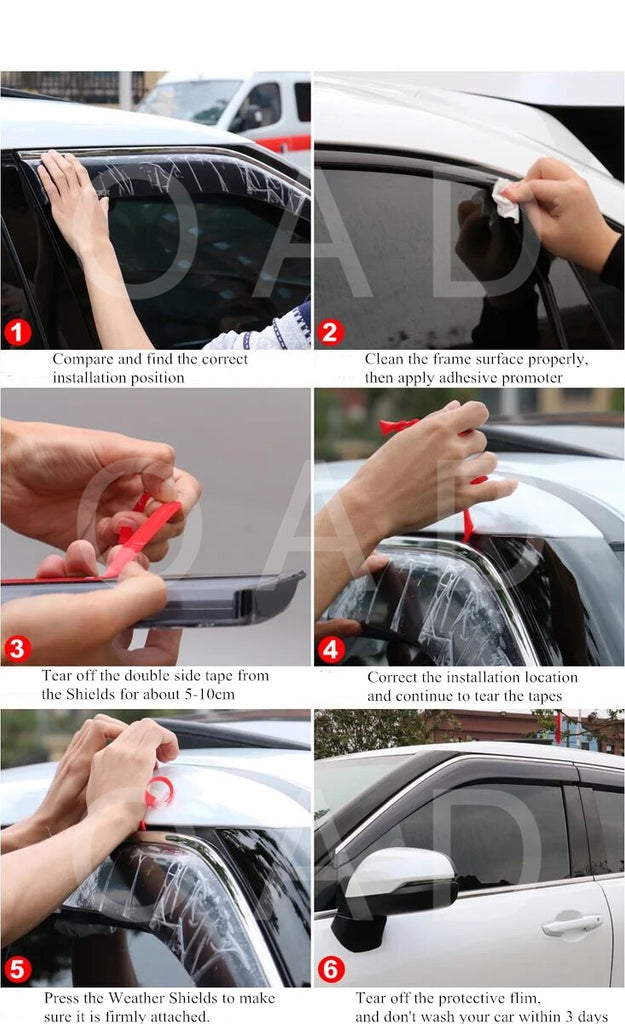 How to install weathershields / Installation Steps of Weather Shields Weathershields Window Visor