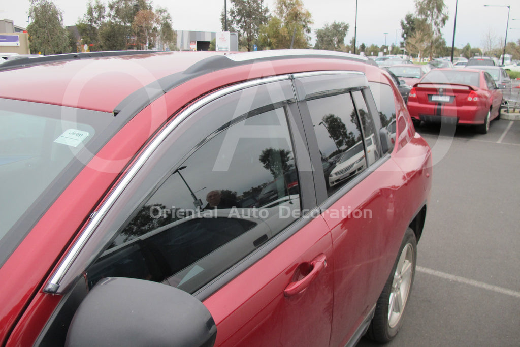 Injection weathershields weather shields window visor For Jeep Compass 07-17 model
