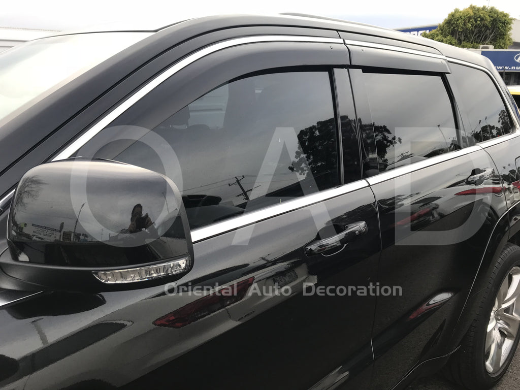 Injection Stainless weathershields weather shields window visor For Jeep Grand Cherokee 10+ T