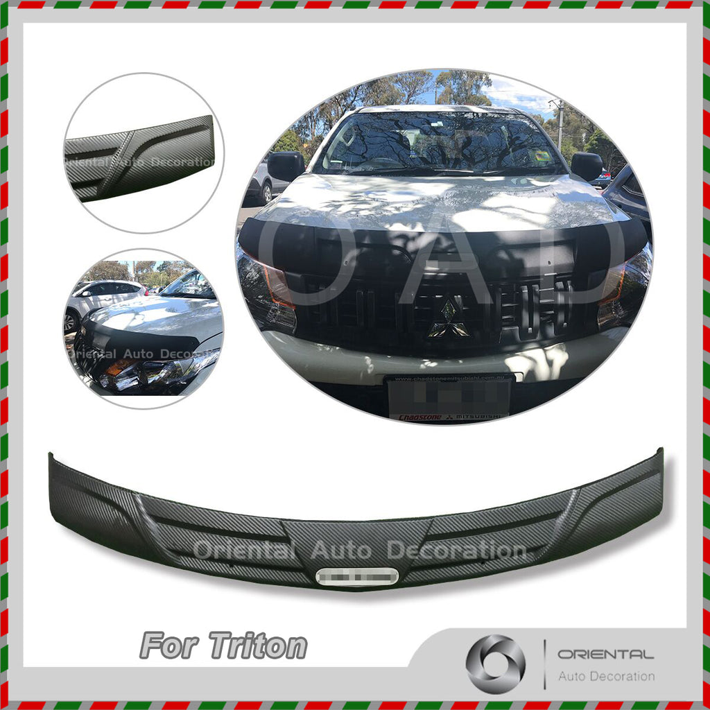 Injection Exclusive Three-Piece Detachable Bonnet Protector for Mitsubishi Triton 06-15