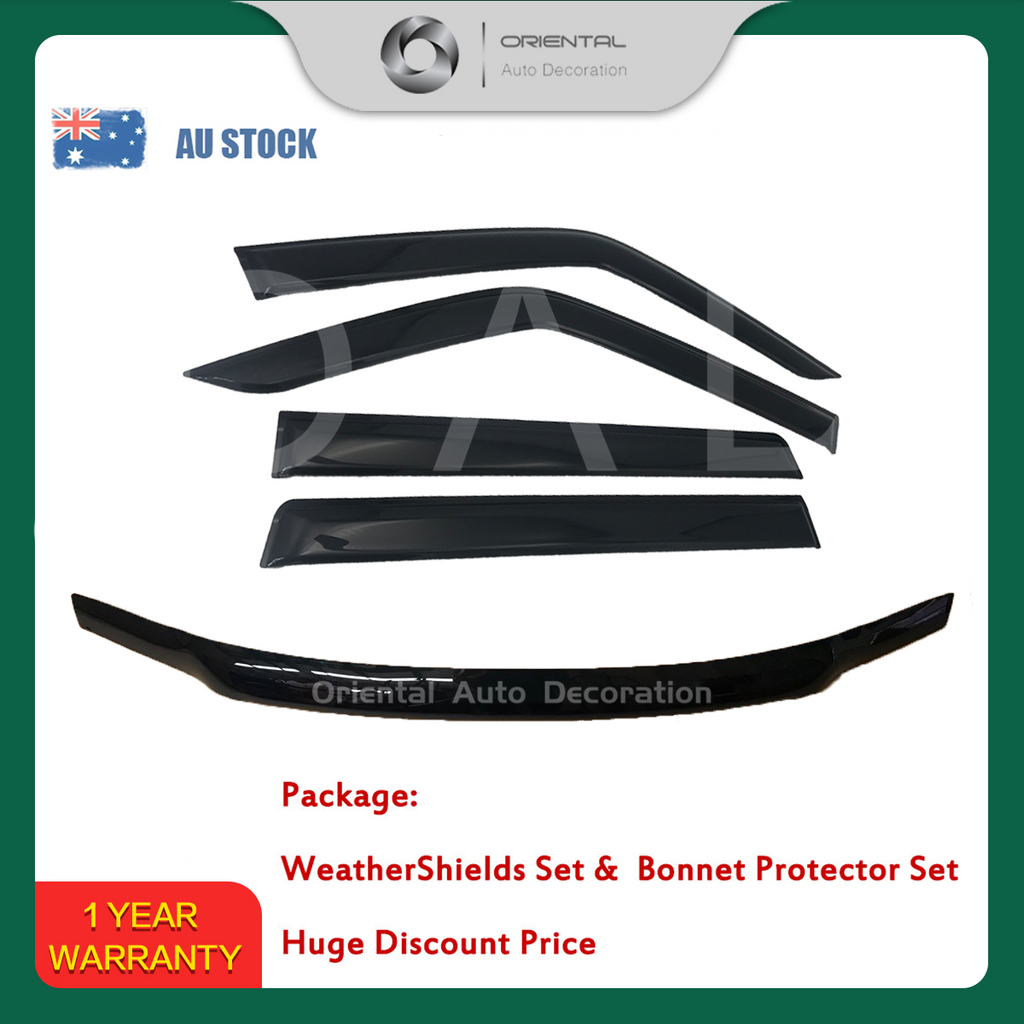 Bonnet Protector & Luxury Weathershields Weather shields window visor for Nissan Patrol Y61 04-15 #BC