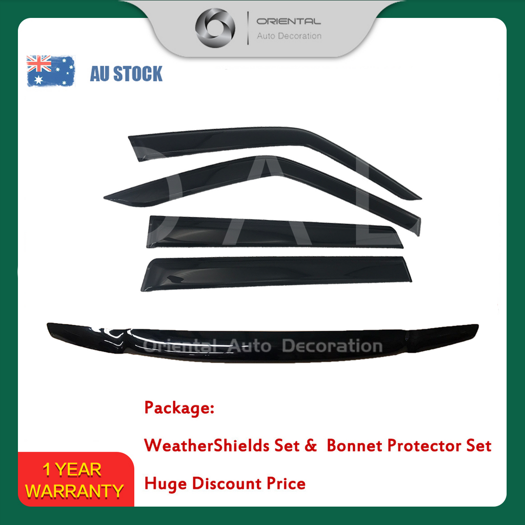 Bonnet Protector & Luxury Weathershields Weathershield window visor for Nissan Patrol Y61 98-04 #BC